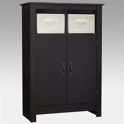 black kitchen storage cabinet black double door pantry cabinet with storage bins at