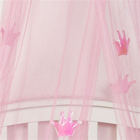 pink bed canopy kids childrens girls princess crown bed canopy insect