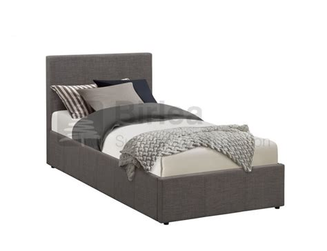 single ottoman beds uk birlea berlin 3ft single grey fabric ottoman bed by birlea