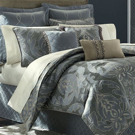 blue damask bedding chantal damask comforter bedding by croscill
