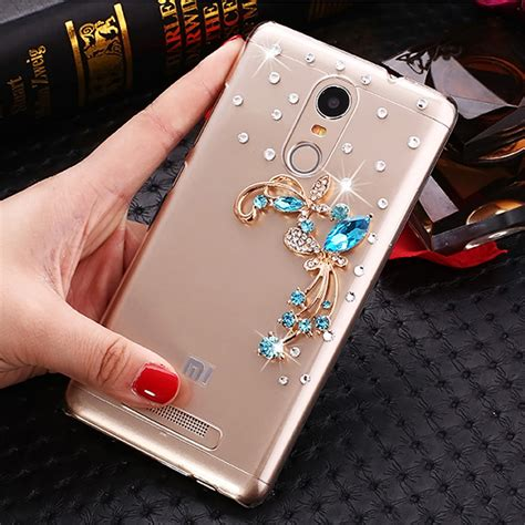 Buy Designer Golden Flowers Xiaomi Redmi 3s Prime Back Cover aliexpress buy blue butterfly flowers rhinestone