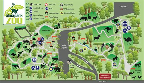 zoo map about us alma park zoo brisbane official site