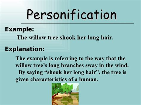 give exle of personification personification poems