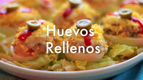 una receta de cocina facil huevos rellenos recetas de cocina f 225 cil youtube