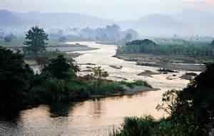 Jfk Cabinet Myanmar River Small Mountain River Shan State Burma