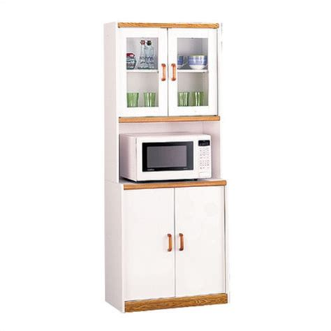 Buy Low Price Ameriwood White Mobile Microwave Cart with