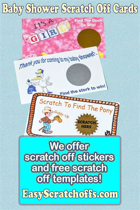 Baby Shower Scratch Tickets by 17 Best Images About Baby Shower Ideas On