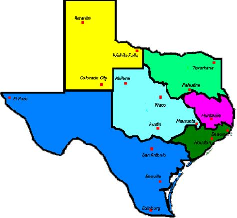 texas prisons map prisons in texas map images