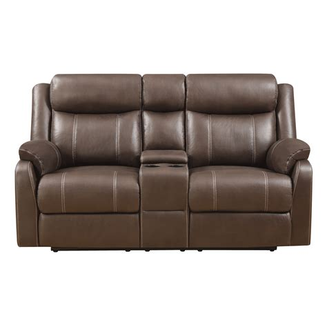 chocolate loveseat domino chocolate reclining console loveseat bernie