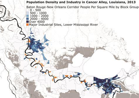 louisiana industry map cancer alley louisiana map map