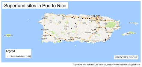 superfund sites map superfund sites in puerto rico frontier group