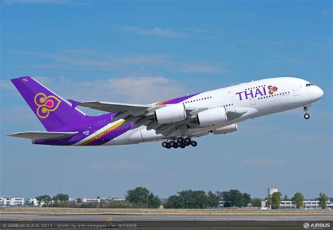 thai airways thai airways takes delivery of its first airbus a380