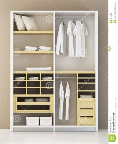 D Closet by Modern Closet 3d Rendering Stock Illustration Image Of