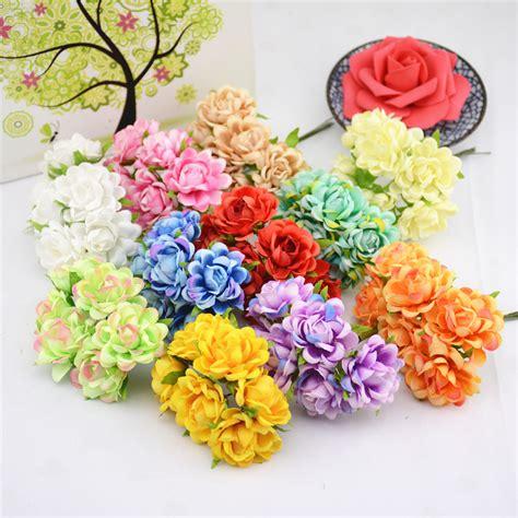 aliexpress buy 6pcs silk artificial flower iris aliexpress buy 6pcs lot silk artificial flower bouquet for wedding home decoration