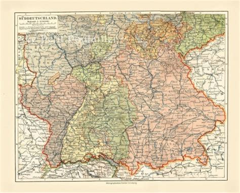 southern germany map switzerland bavaria southern germany 1885 german