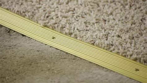 Floor Edging Strips Metal by How To Install Carpet Transition Trim Between