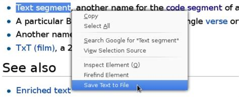 how to save a testo save text to file per firefox salvare il testo
