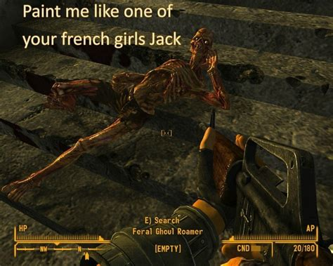 Meme Creator Feral Ghouls Feral Ghouls Everywhere Meme - paint me like one of your french girls jack ra s