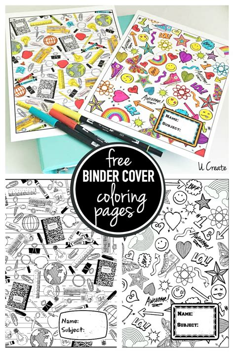 Coloring Page Binder Cover by Binder Cover Coloring Pages