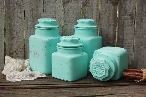 Green Kitchen Canister Set by Mint Green Kitchen Canister Set Mint Green Kitchen