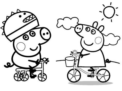 peppa pig george coloring pages 30 printable peppa pig coloring pages you won t find anywhere
