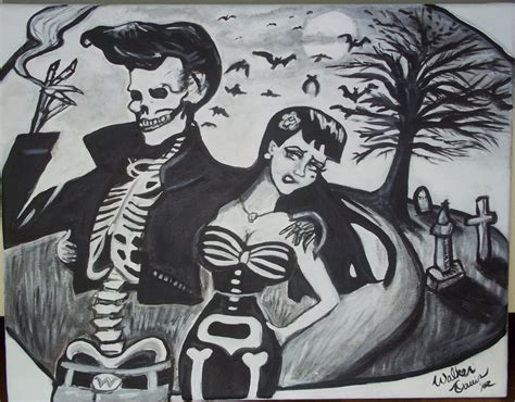 imagenes rockabilly love bad to the bone 1950s rockabilly spooky halloween skeleton