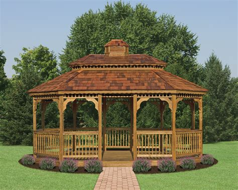 pre assembled gazebos wooden oval gazebos north country sheds