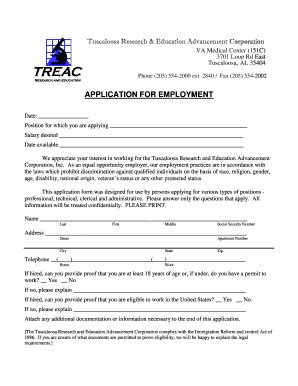 printable virginia state employment application employment application forms for va medical center in