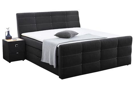 bett mit unterkasten boxspringbett cary 180x200 cm grau hotelbett mit