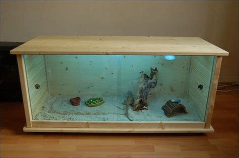 bearded dragon cage lighting this would be cool but i d want the lights on the outside