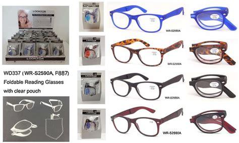 folding reading glasses in display