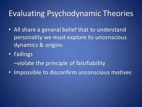 personality theories psychodynamic theories of personality