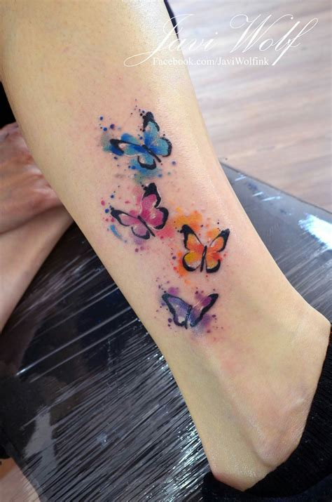 watercolor tattoos uk javi wolf watercolor butterflies tattoos