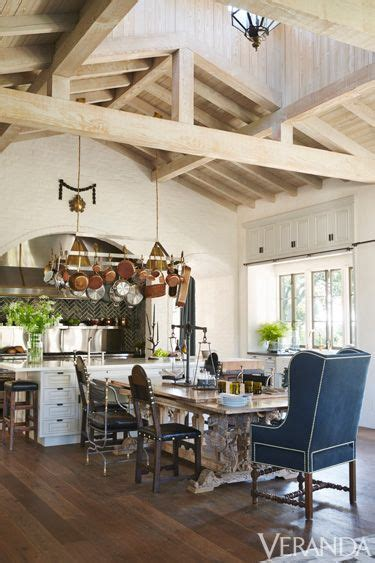 windsor smith kitchen rustic and refined los angeles ranch exposed beams high