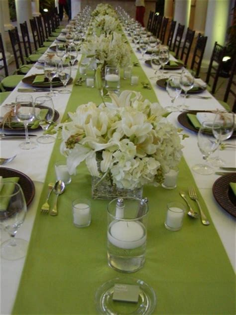 beautiful table settings green and brown cohen s wedding event planning gift baskets