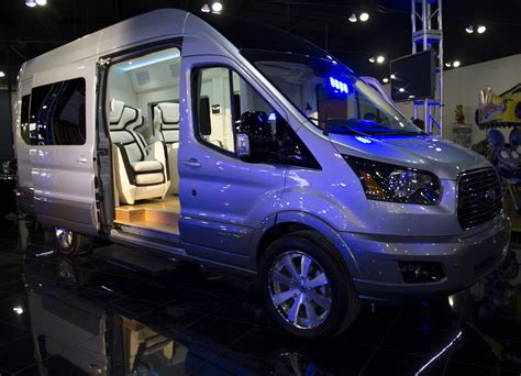 ford transit skyliner concept    york auto shows party van