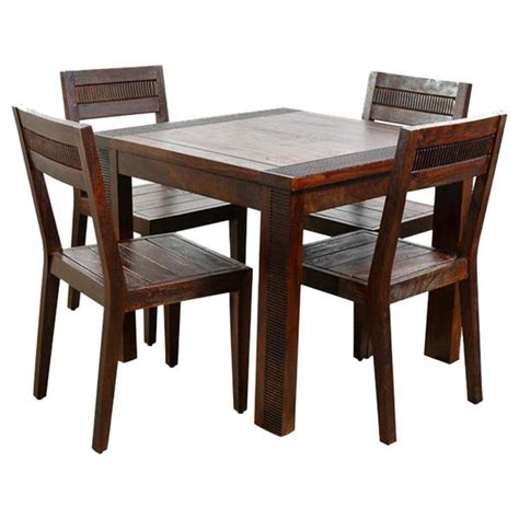 Ethnic India Madrid 6 Seater Sheesham Wood Dining Set With Table Buy Ethnic India Ethnic India Athens 4 Seater Sheesham Wood Dining Set Buy At Best Price In India On