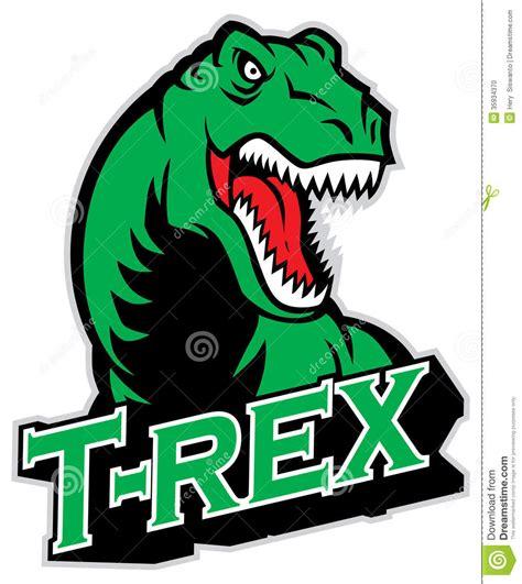 Brick Wall Stickers t rex mascot stock photo image 35934370