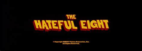 quentin tarantino film titles the hateful eight 2015 quentin tarantino title