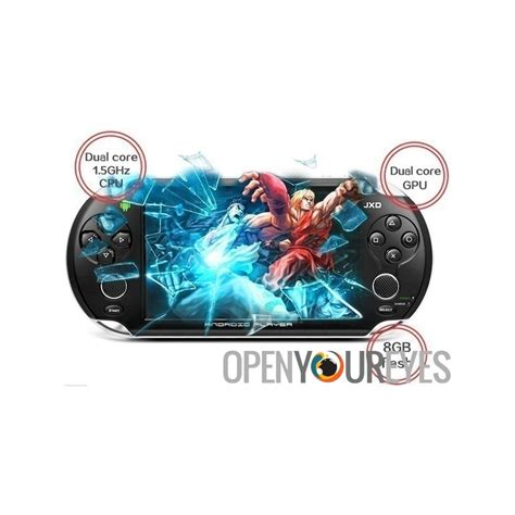dual full version android game jxd s5110b dual core retro game emulator console portable