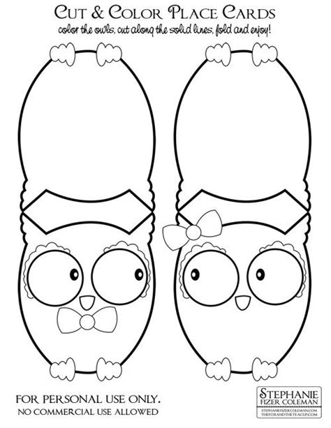 owl template for cards my owl barn freebie owl place cards i would use them in