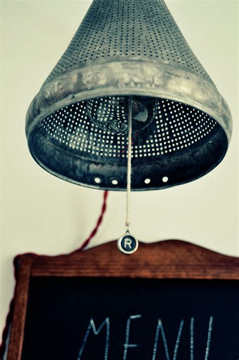 Colander Light Fixture 171 Best Images About Repurposing Restaurant Supplies On