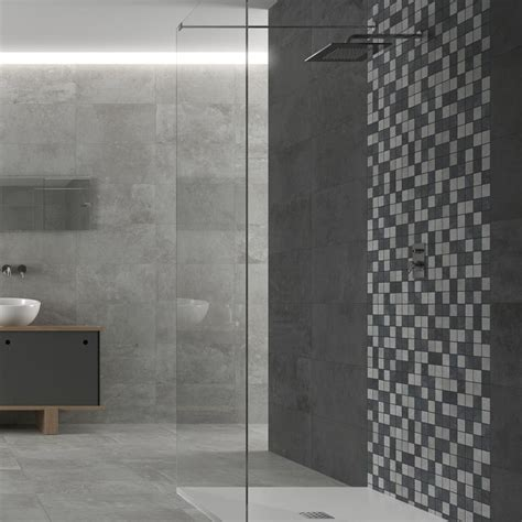 grey mosaic bathroom 24 best patterned wall tiles images on pinterest