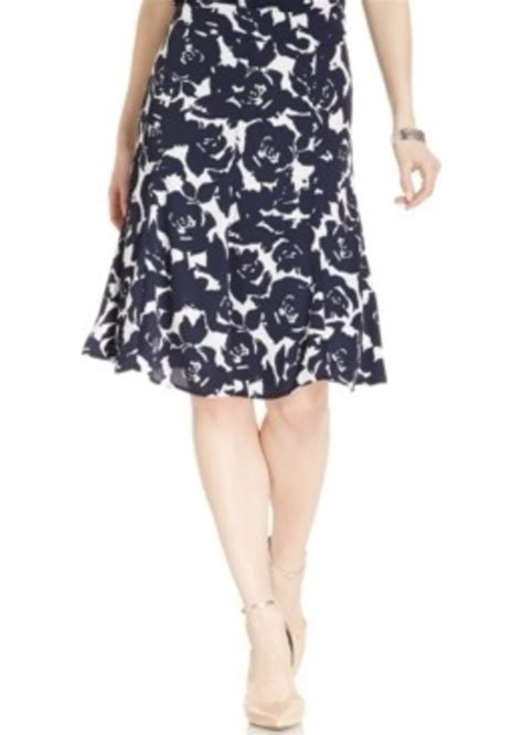 New For New Flare Skirt Rok A Line Celana Fashion Korea jones new york jones new york collection flared a line floral skirt skirts shop it to me