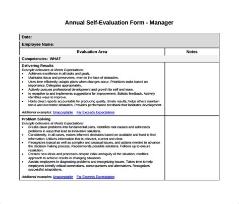 sle manager evaluation 6 documents in pdf word