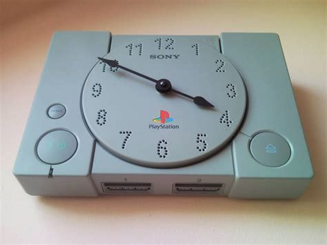 ps1 console recycle playstation ps1 retro console wall clock 2