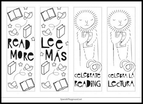 printable bookmarks in spanish common worksheets 187 printable spanish preschool and