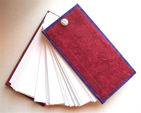 Handmade Flip Book - sided handmade flip book note card book