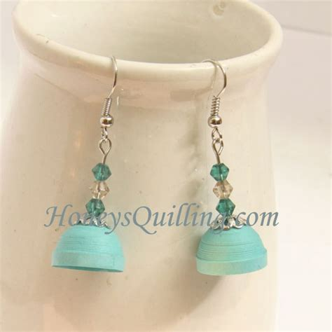paper quilling beads tutorial free tutorial paper quilled jhumka earrings with beads