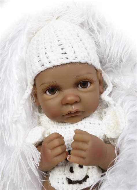 full house black girl 25cm full body silicone reborn baby doll toy for girl black skin newborn boy dolls